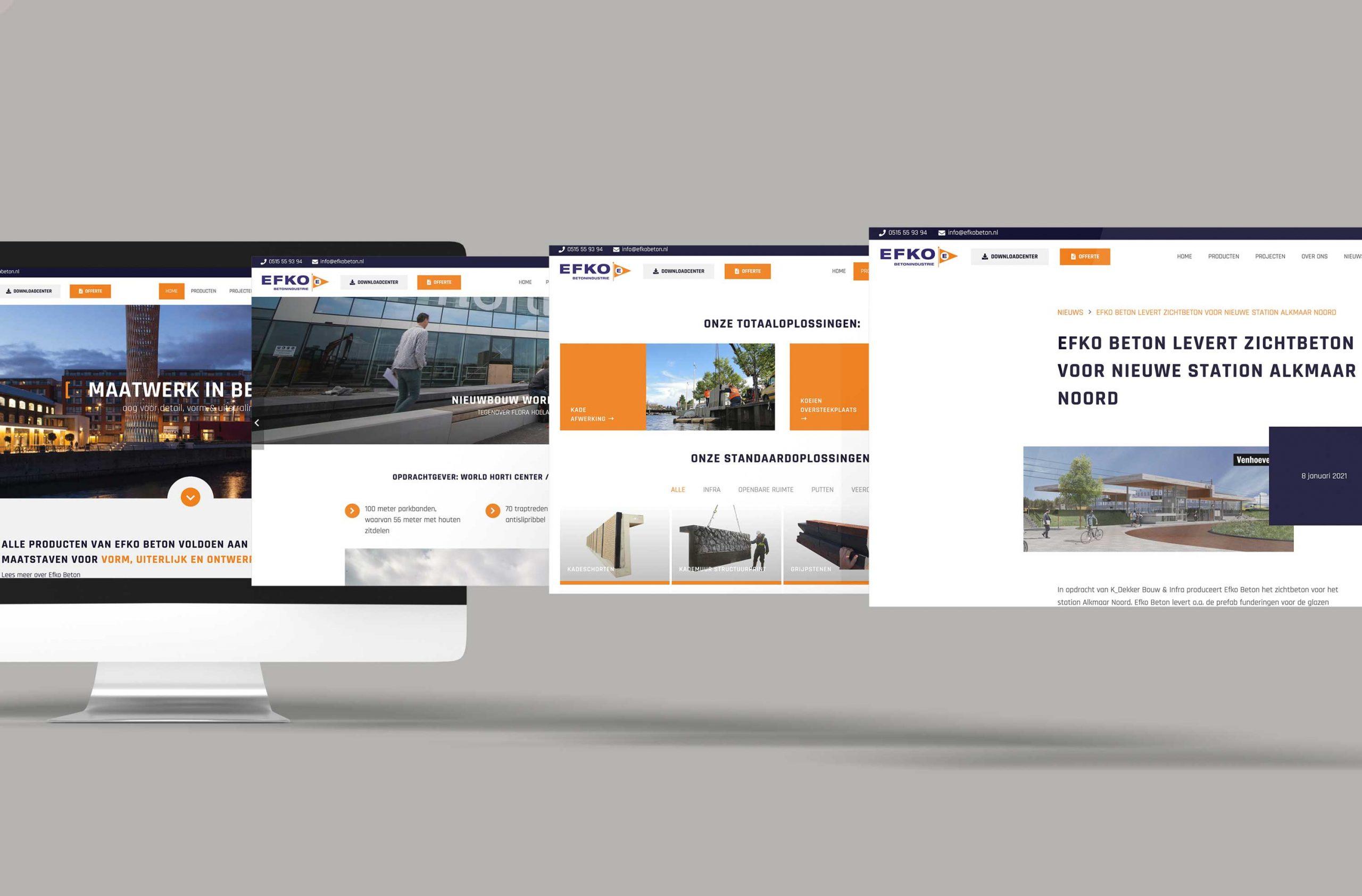 webdesign desktop efko